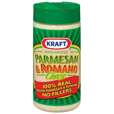 Kraft Grated Cheese Cheese 100% Real Parmesan & Romano, 8 oz