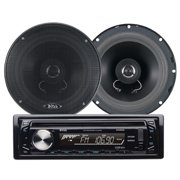 "Boss Audio 654CK In-Dash CD/MP3 Receiver (648UA) Plus 6.5"" 2-Way Full-Range Speakers"