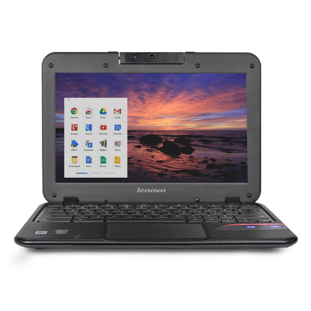 "Refurbished Lenovo N21 11.6"" Chromebook Laptop Intel Celeron Dual Core 2.16GHz 2GB 16GB SSD"