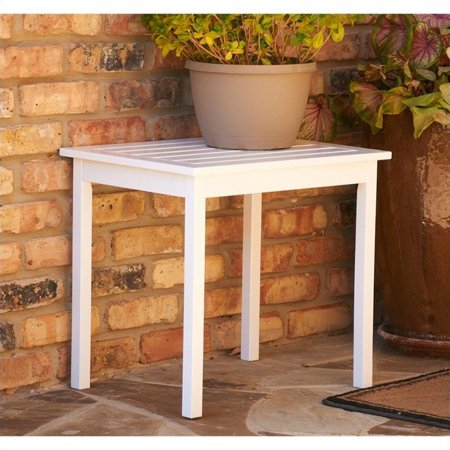 Southern Enterprises End Table in Painted White ()