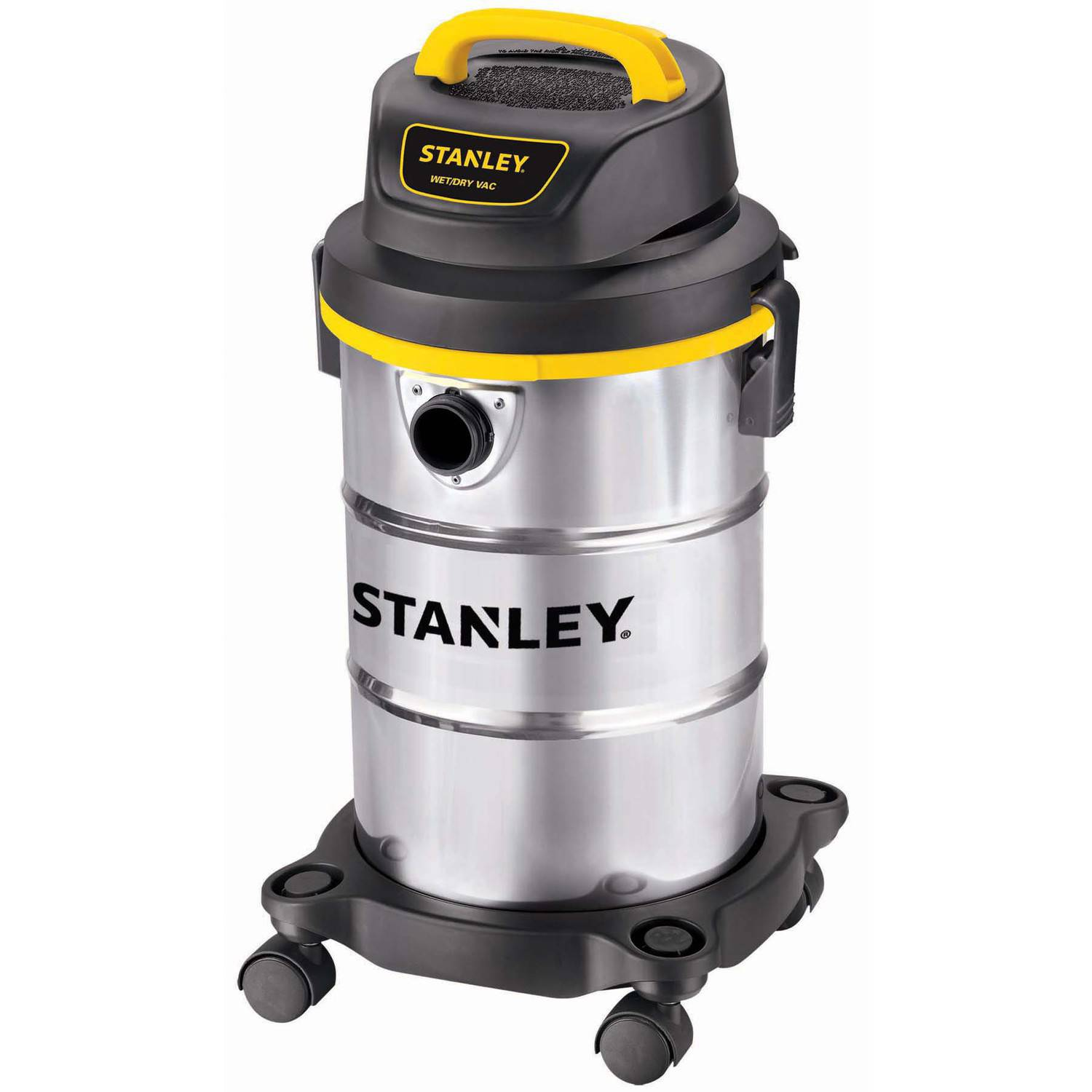 Stanley 5-gallon, 4.5-peak horse power,  stainless steel wet dry vacuum