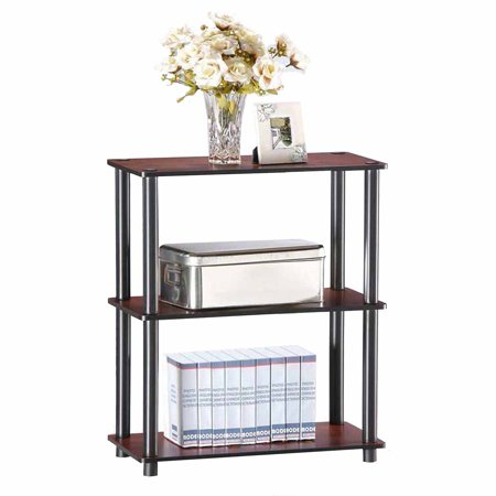 Furinno 10024 Turn-N-Tube 3-Tier No-Tools Compact Multipurpose Shelf Display Rack
