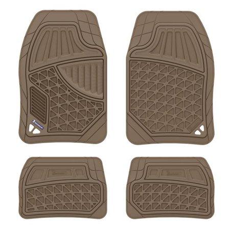 Michelin EdgeLiner Universal 4pc All Weather Rubber Floor Mats Tan PVC -