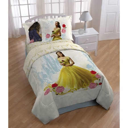 Beauty And The Beast Decor (Disneys Beauty and the Beast My Romantic Beauty Kids Twin Polyester Reversible Comforter w/bonus)