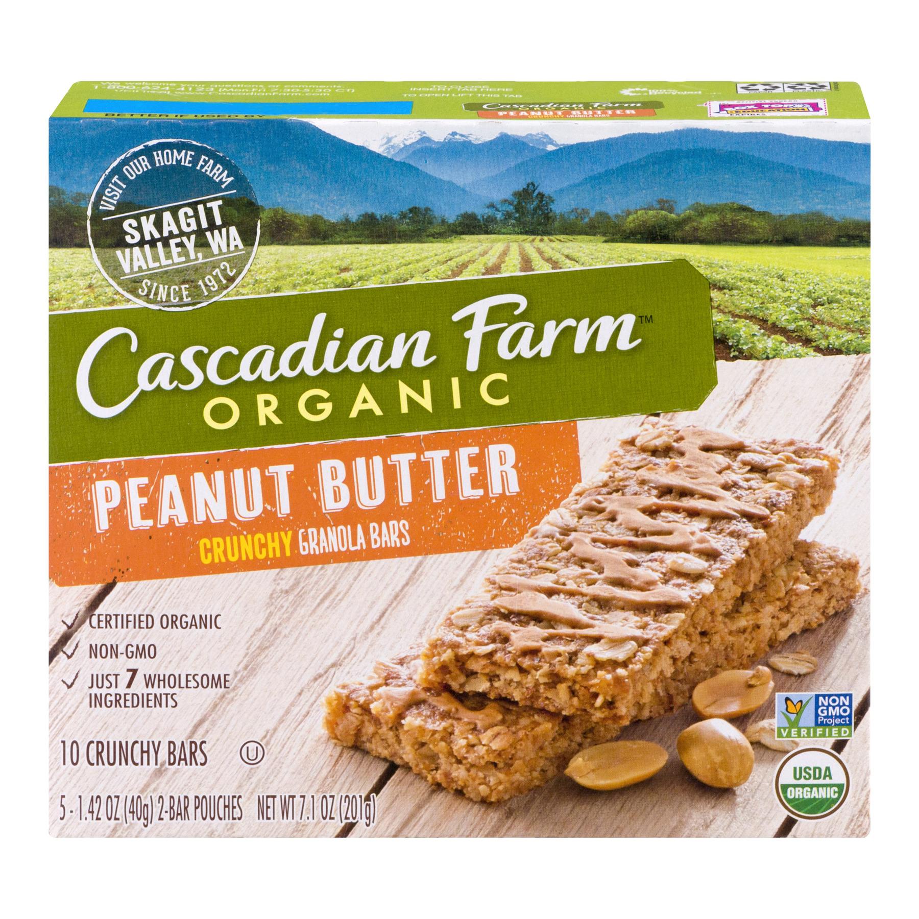 (3 Pack) Cascadian Farm Organic Granola Bar Non-GMO Peanut Butter 7.1 oz
