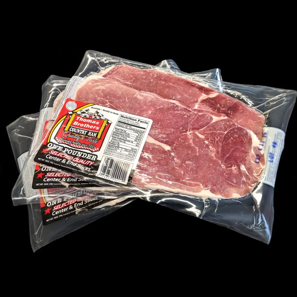 Thomas Brothers Boneless Country Ham Slices Walmart Com Walmart Com