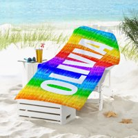 Personalized Colorful Tie Dye Beach Towel