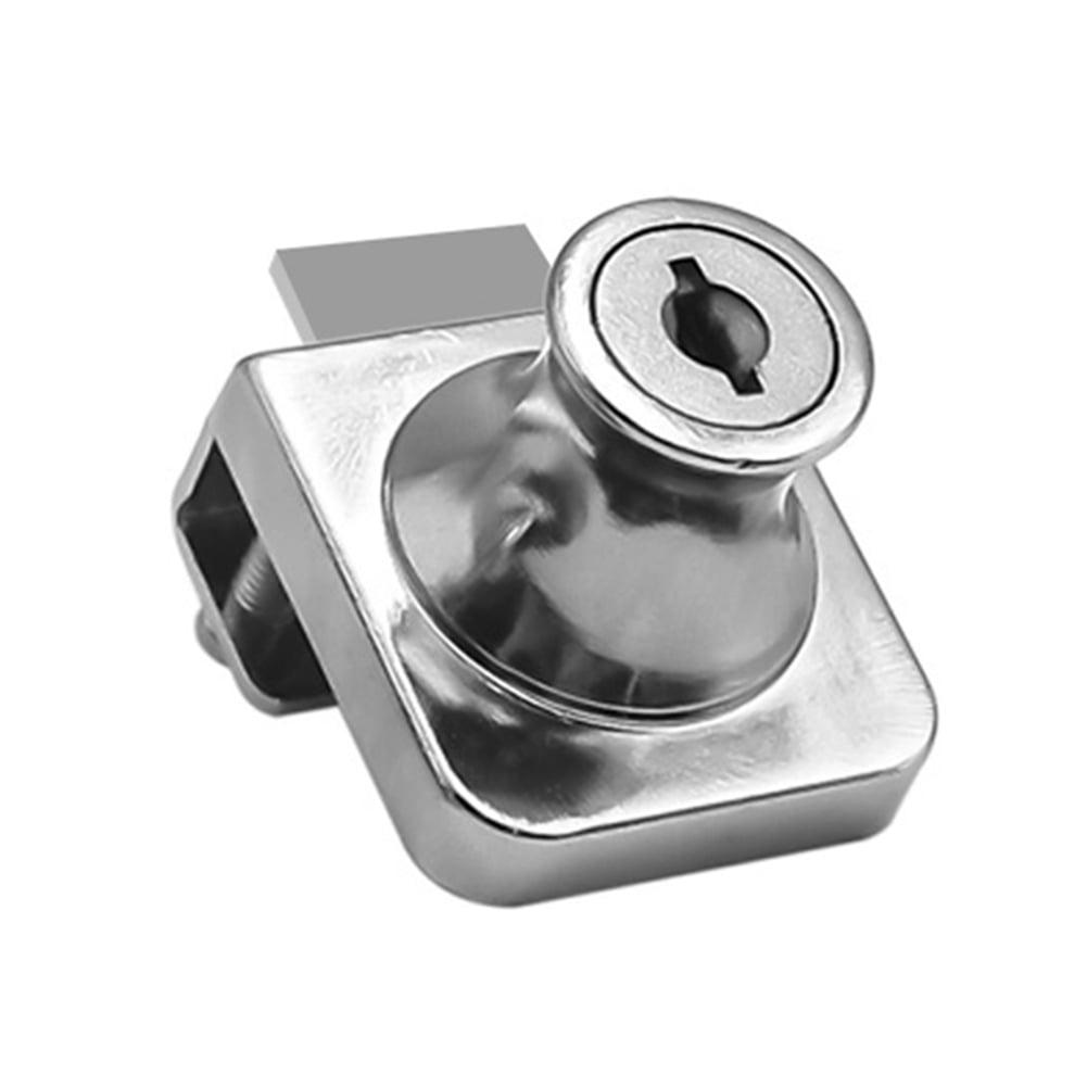 Locks Display Showcase Cabinet Door Zinc Alloy Cylinder Sliding Glass Push Door