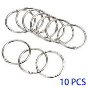 TureClos 10pcs Scrapbook Binder Ring Leaf Book Photo Album Staple Binder Open Metal Ring DIY Accessories