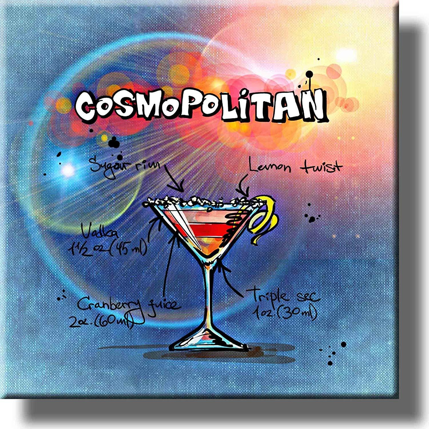 Cosmopolitan Cocktail Recipe Drink Picture On Stretched Canvas Wall Art Decor Ready To Hang Walmart Com Walmart Com