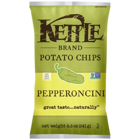 Kettle Brand Potato Chips Pepperoncini 8 5 Ounce