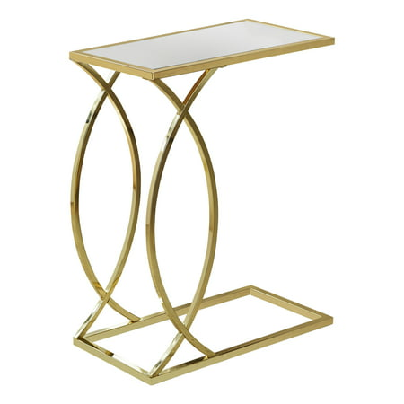 ACCENT TABLE - MIRROR TOP WITH GOLD METAL for $<!---->