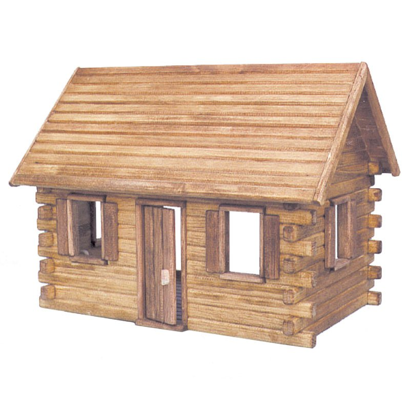 Real Good Toys Crockett Log Cabin Kit  - 1 Inch Scale