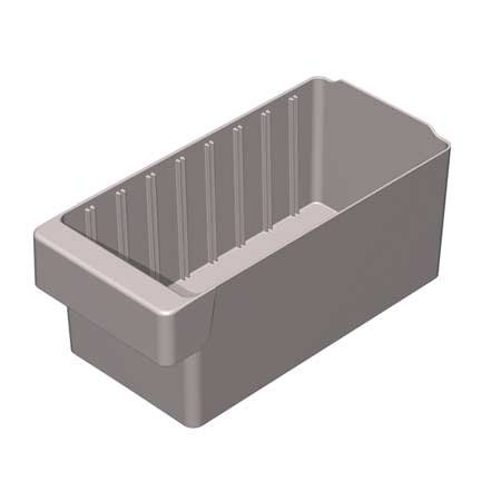 Akro-Mils 20 Lb Capacity, Drawer Bin, Gray