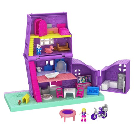 Polly Pocket Pollyville Pocket House Playset with 10+ Accessories