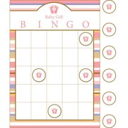 Baby Shower 'Tiny Toes Pink' Bingo Party Game (1ct)
