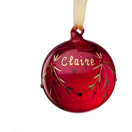 Personalized Christmas Ornament - January Glass - Personalized Christmas Ornaments For Kids