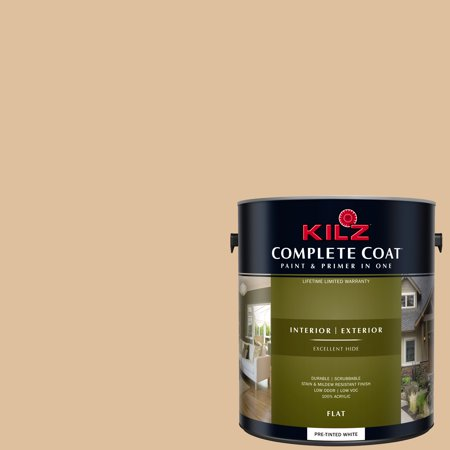 KILZ COMPLETE COAT Interior/Exterior Paint & Primer in One #LD170-02 Lion Cub