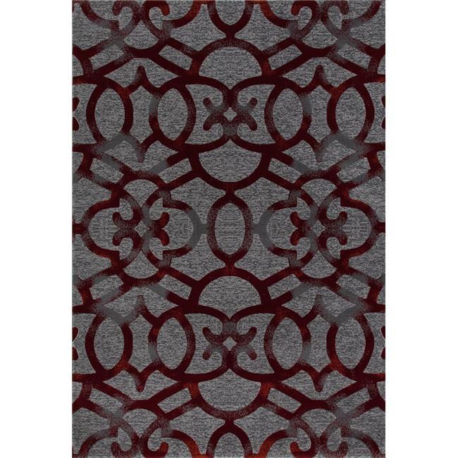 Art Carpet 841864108828 2 x 4 ft. Bastille Collection Trellis Woven Area Rug, Gray - image 1 de 1