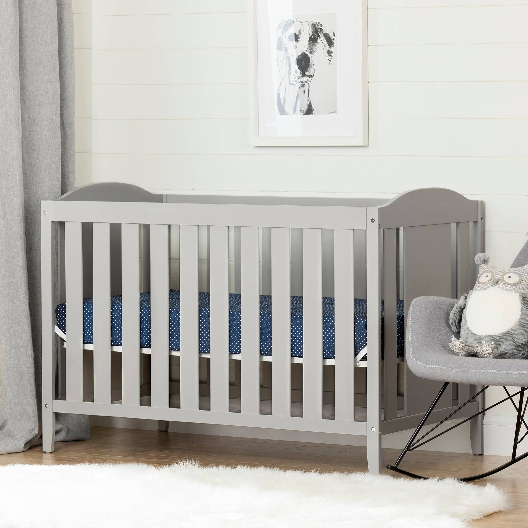 South Shore Angel 2-in-1 Convertible Crib, Multiple Finishes by South Shore Furniture