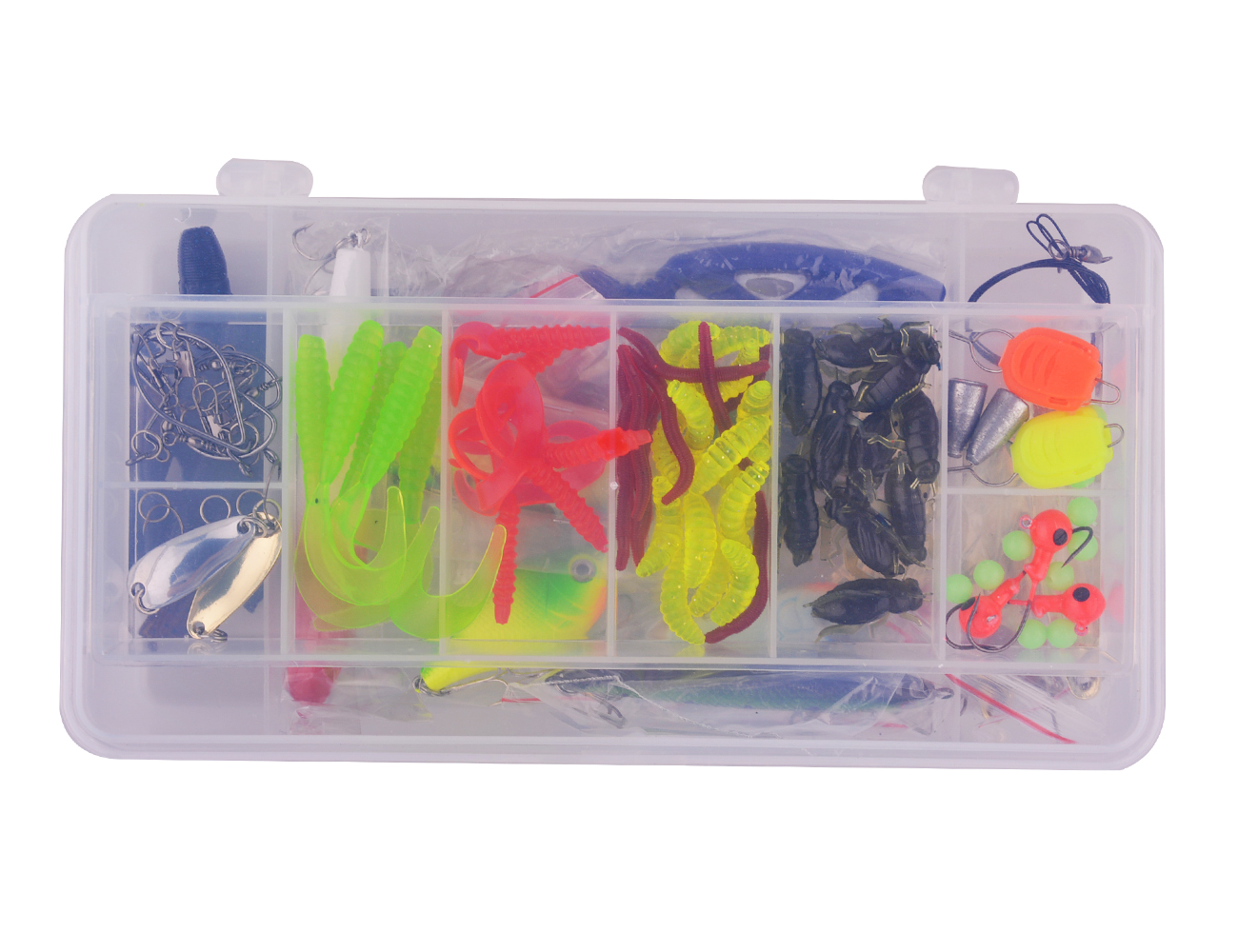 Fishing Lure Set Kit Soft and Hard Lure Baits Tackle Set Freshwater Trout Bass Salmon 101pcs by