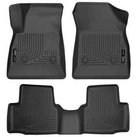 Chevrolet Cruze Seat - 3 Piece Front & 2nd Seat Floor Liners, Black - 2016-2018 Chevrolet Cruze