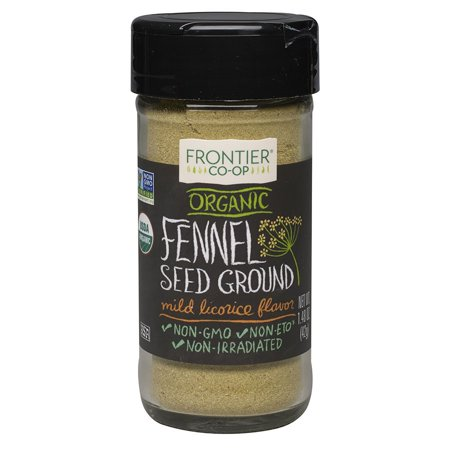 Frontier Ground ((2 Pack) Frontier Ground Fennel Seed, Certified Organic, 1.48 Oz )