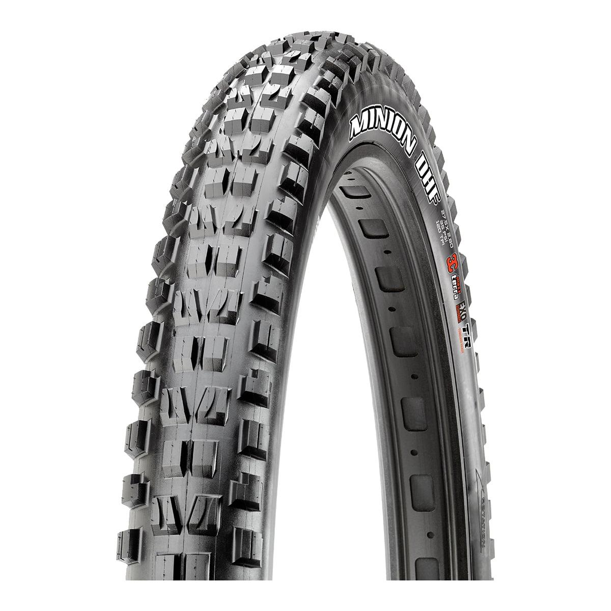 "Maxxis Minion DHF 27.5x2.80"" Tire 120tpi, 3C Maxx Terra Compound, EXO Casing, Tubeless Ready, Black"