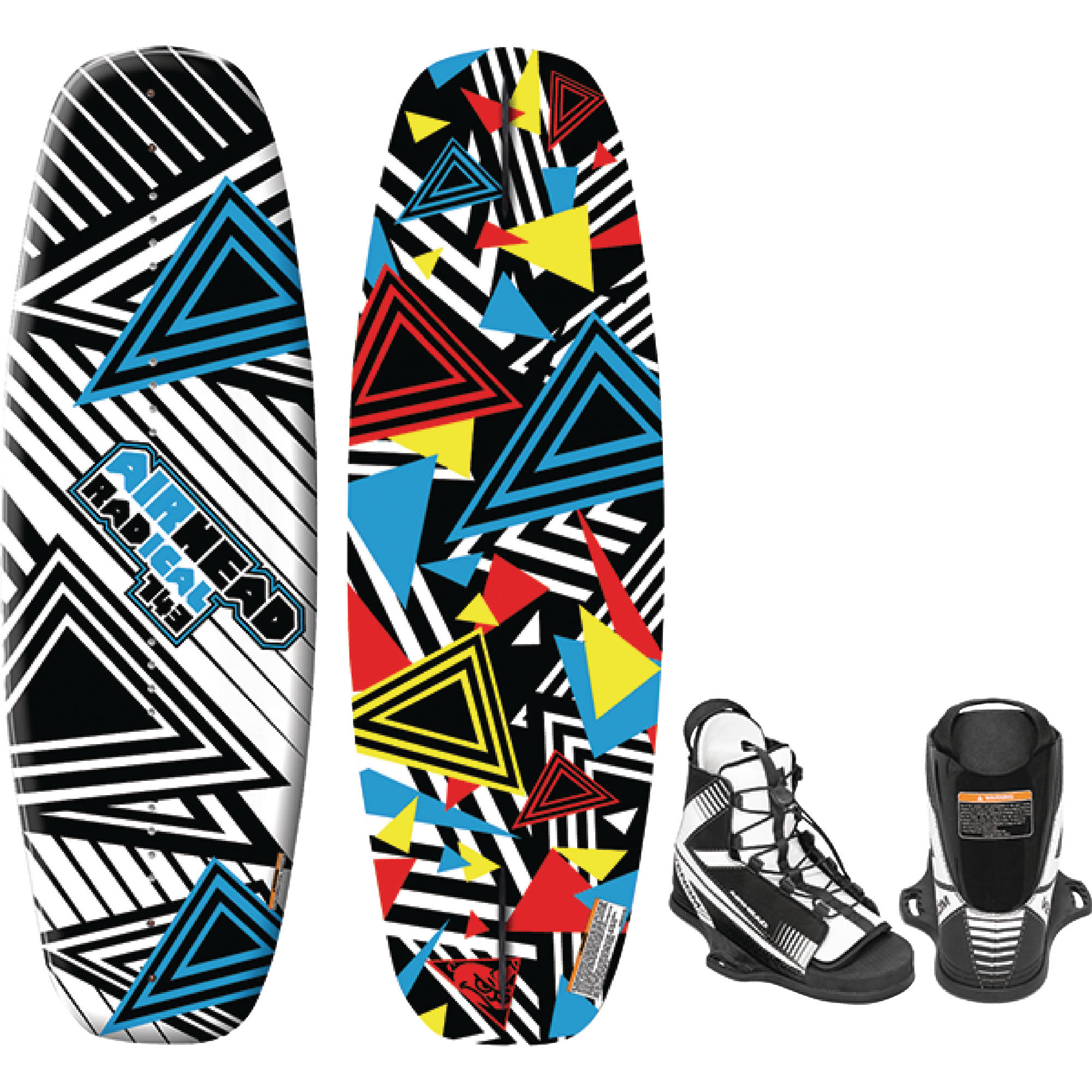 Airhead AWH-3020 RADICAL Wakeboard for Riders 150 lbs and up, Venom Bindings Size 9 to 12 by Kwik Tek