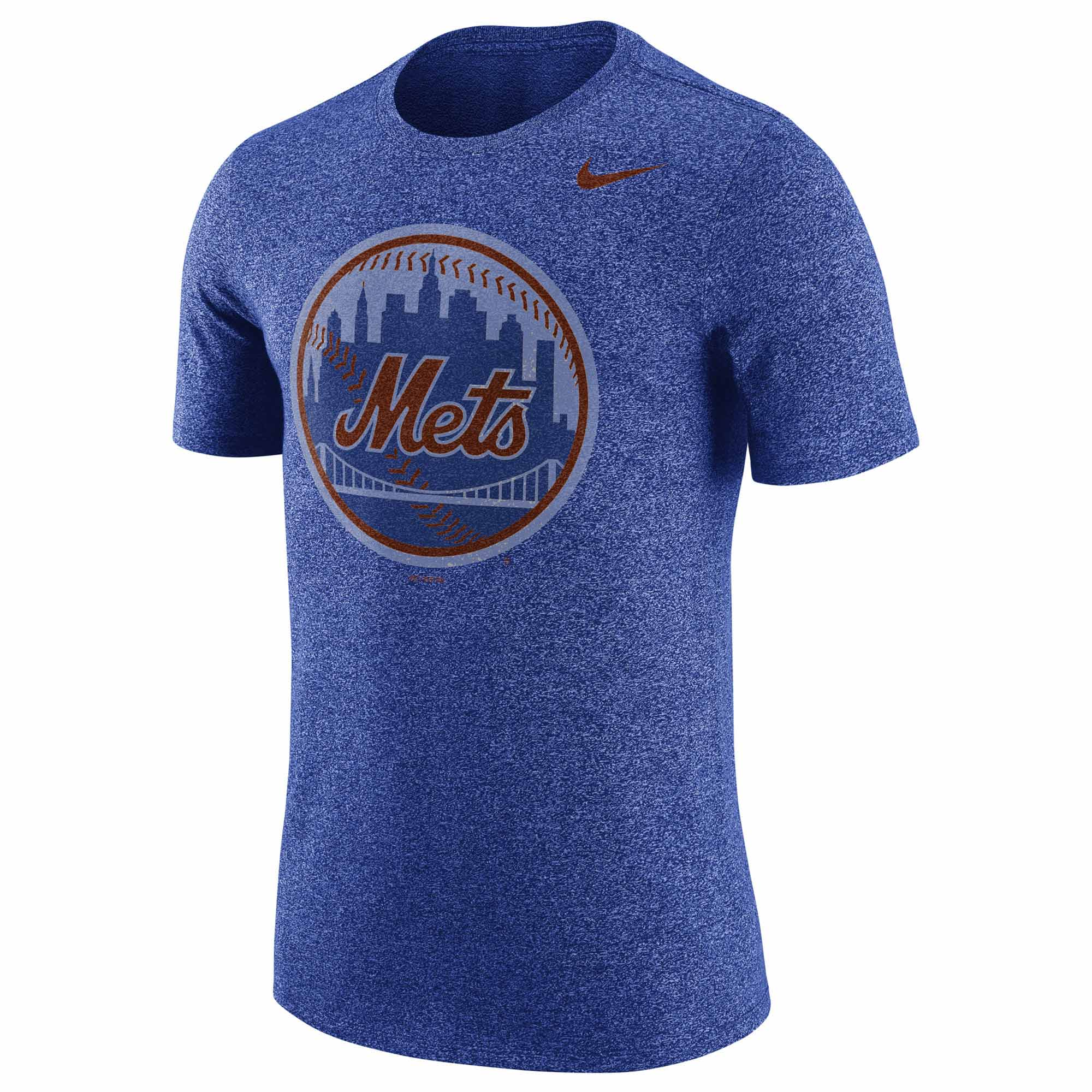 New York Mets Nike Marled T-Shirt - Heathered Royal