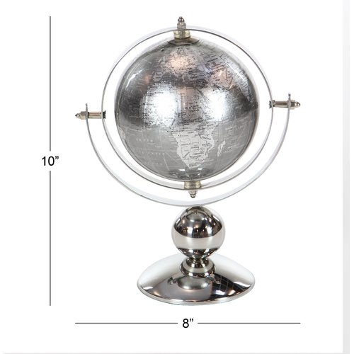 Charlton Home Glam Stainless Steel Globe