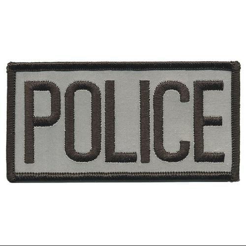 HEROS PRIDE 10300 Embrdrd Patch, Police, Blck on Ref Grey