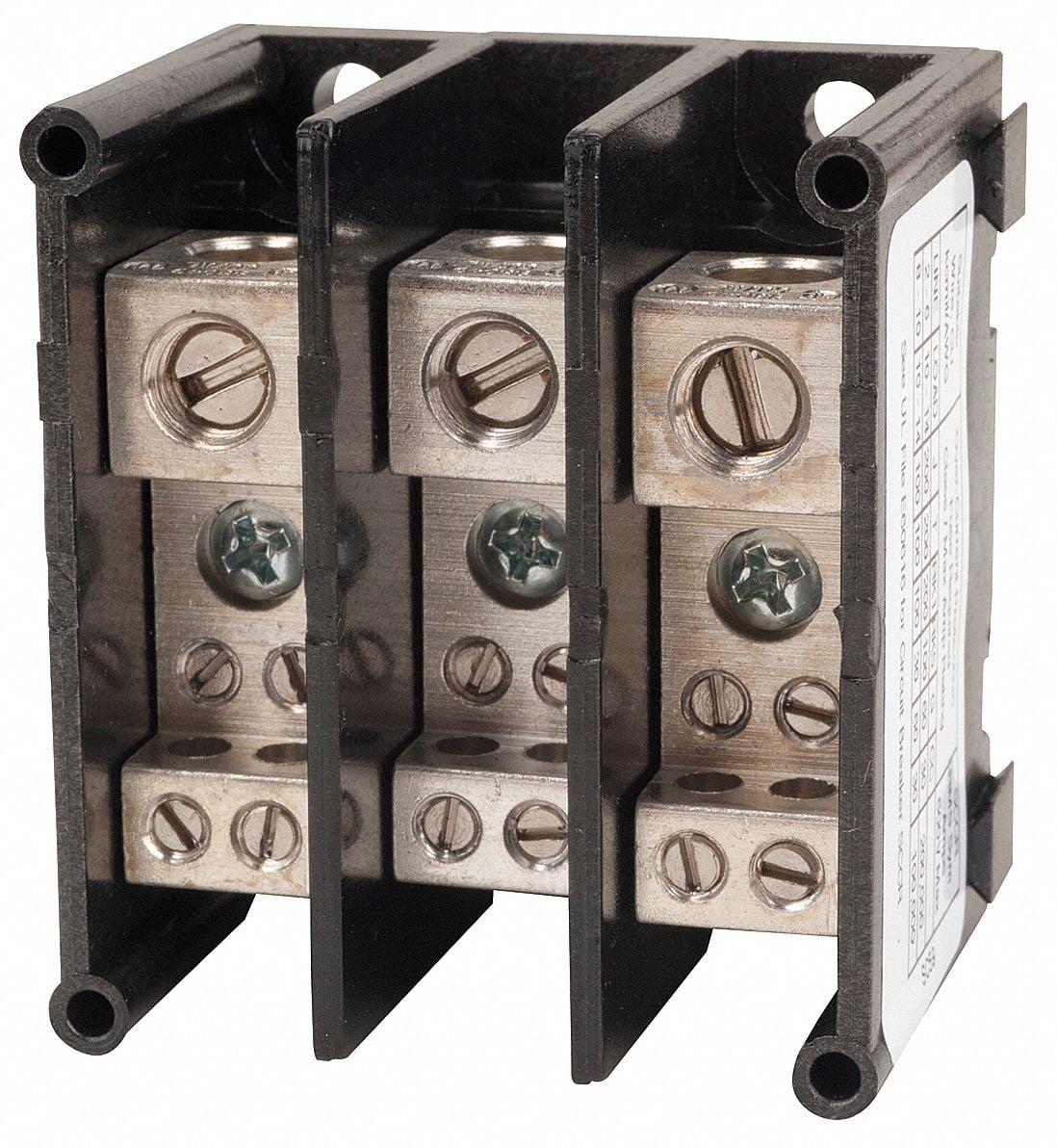 Square D Miniature Distribution Block, 115 Max. Amps, Number of Poles: 3