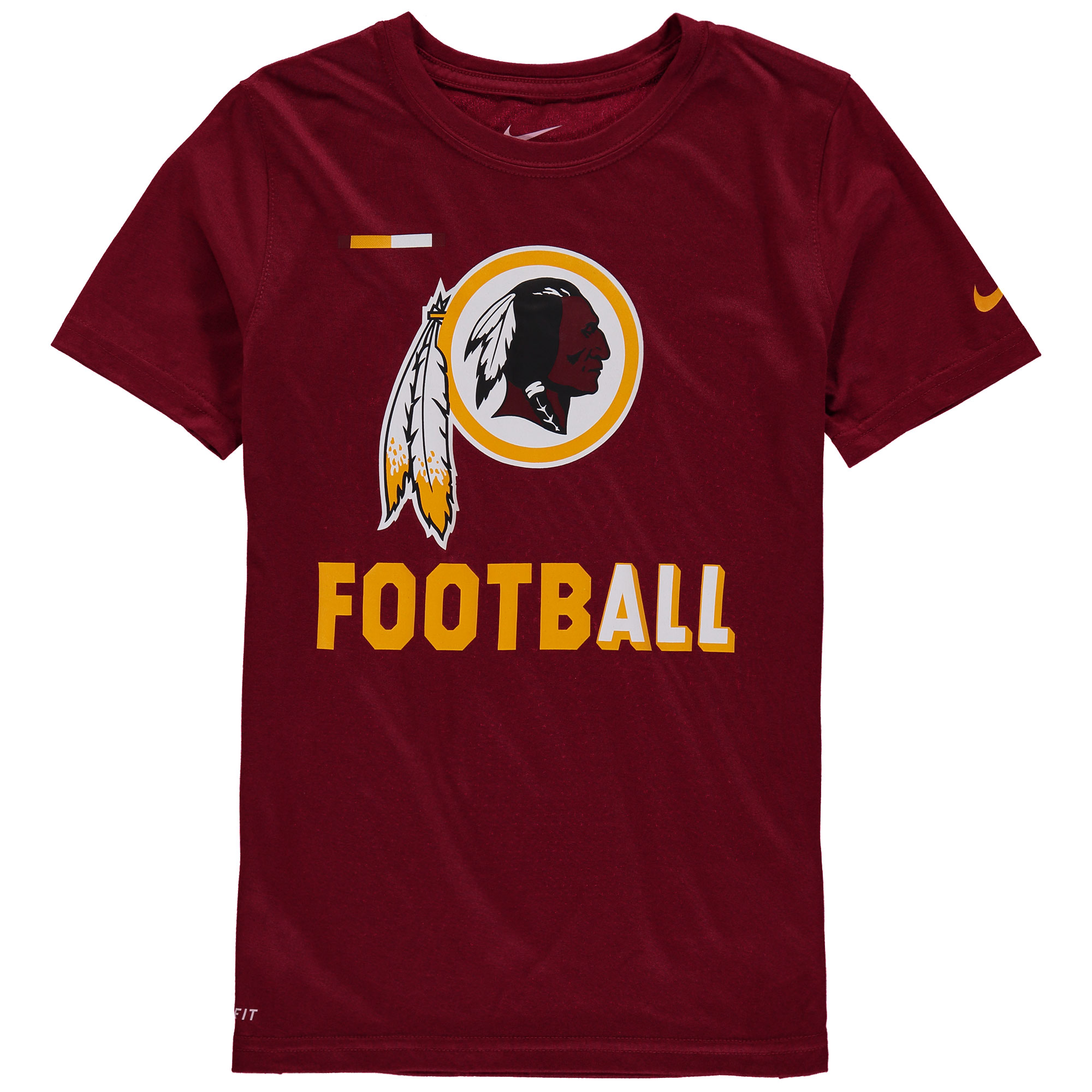 Washington Redskins Nike Youth Legend Football Performance T-Shirt - Burgundy - Yth L