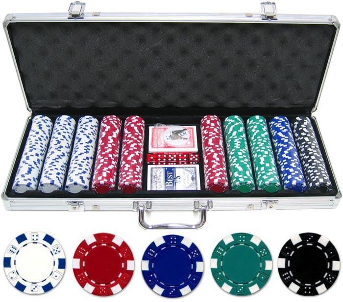 500 piece 11.5g Dice Poker Chip Set by