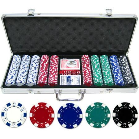 500 piece 11.5g Dice Poker Chip Set