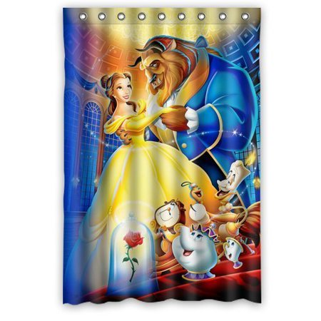 DEYOU Beauty The Beast Fantasy Shower Curtain Polyester Fabric Bathroom Size 48x72 Inches