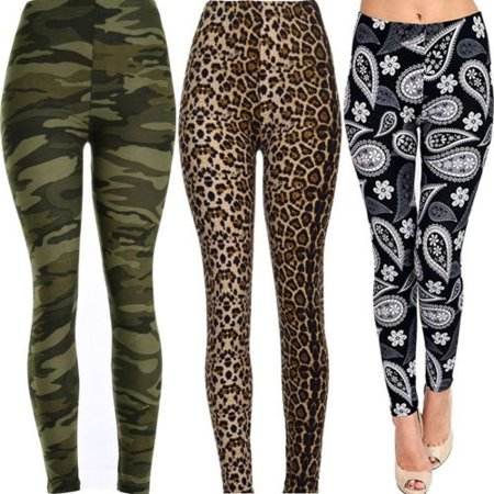 Leopard Heart Pants - Hot Women Stretch Yoga Leggings Fitness High Waist Tight Sports Jogging Pants Trousers