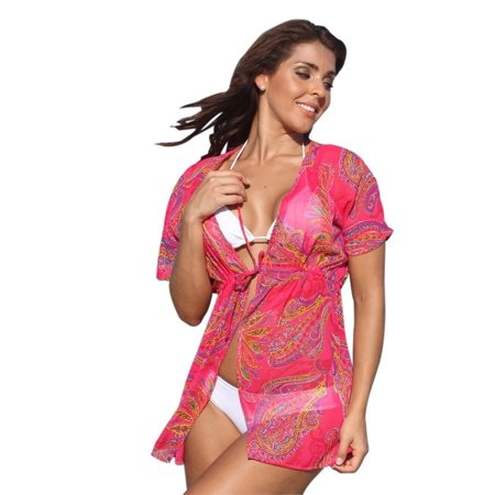 UjENA Paisley Passion Robe Swimsuit Cover Up - image 1 of 3
