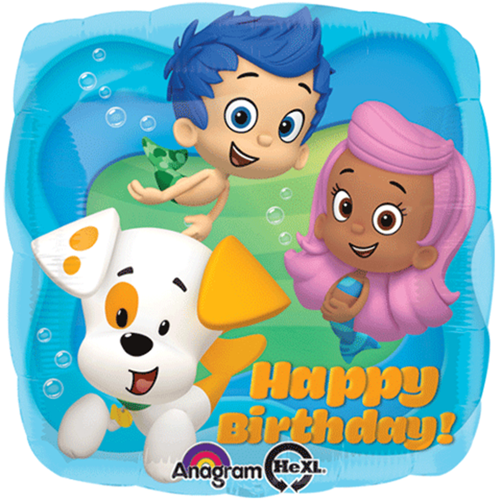 "Bubble Guppies Happy Birthday Foil / Mylar Balloon 18"" ( Each )"