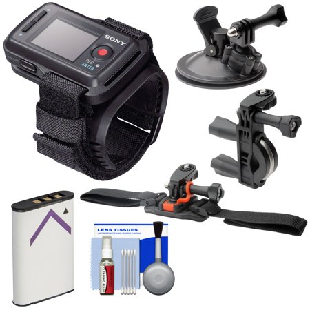 Sony RM-LVR2 Live Wireless Wristband Remote for Action Camera + Handlebar, Vented Helmet & Car Suction Cup