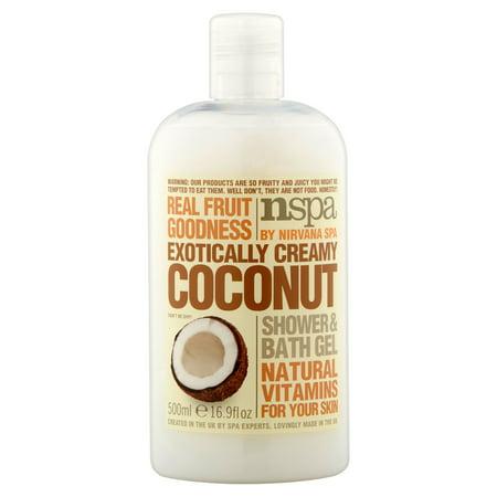 Noix de coco crémeuse exotiquement douche et salle de bain Gel 16.9 fl oz