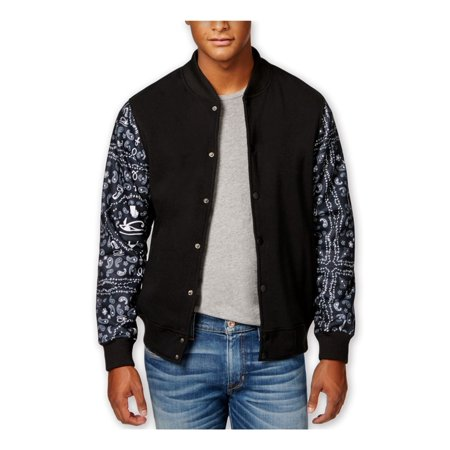 Ring Of Fire Mens Paisley Letterman Fleece Jacket bkb - Personalized Letterman Jacket