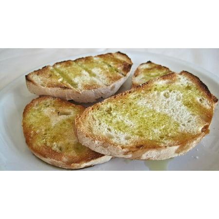 LAMINATED POSTER White Bread Olive Oil Italy Garlic Toast Bruschetta Poster Print 24 x 36