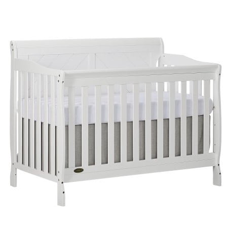 Slumber Baby Ashton Full Panel Convertible 5 in 1 Crib, (Best Tiny Love Baby Cribs)