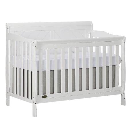 Dream On Me Ashton Full Panel Convertible 5-in-1 Crib, White