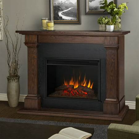 Callaway Grand Electric Fireplace in Chestnut Oak by Real - Swamp Chestnut Oak