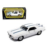 tw toys yatming road signature - pontiac firebird trans am hard top (1969, 1/43 scale diecast model car, white w/ stripes) 94238 diecast cars toy vehicles motorcycles movies