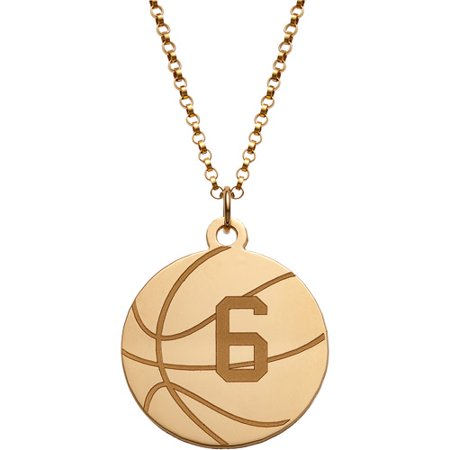 personalized gold over sterling silver basketball disc