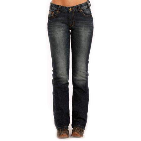 Rock & Roll Cowgirl Boyfriend Bootcut Tuscan Red Jean (26x34) - W2-8483 (Tuscan Rock)